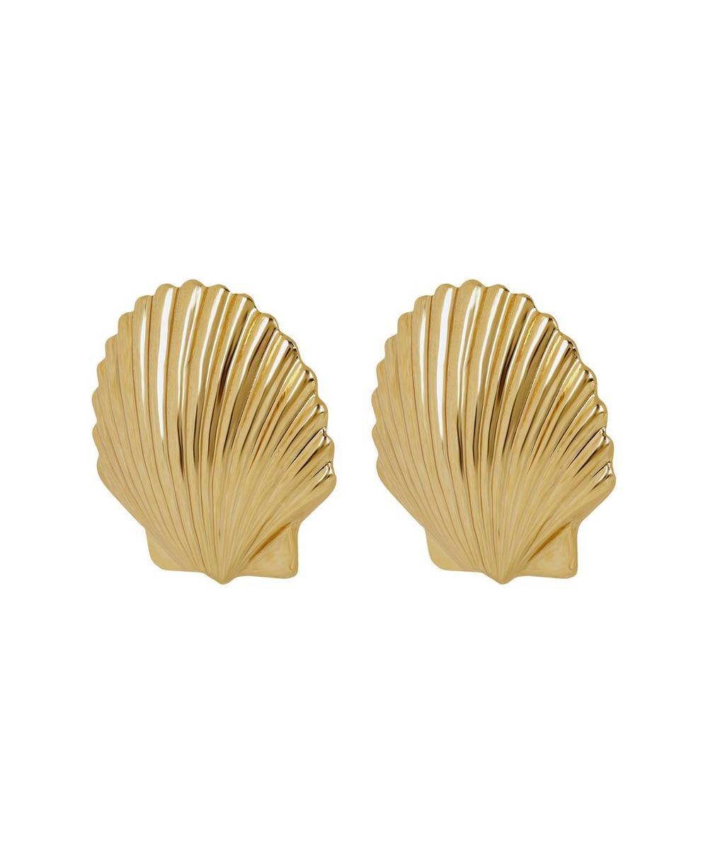 Gold-Tone Madeleine Shell Clip-On Stud Earrings
