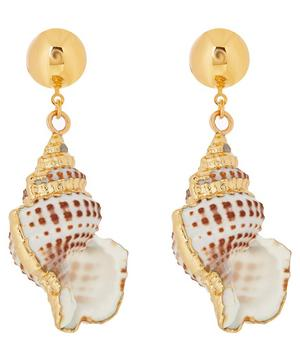 Gold-Tone Marina Shell Drop Earrings