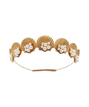 Gold-Tone Sirena Pearl Shell Tiara