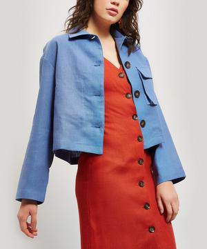 Apollonia Linen Square-Fit Jacket