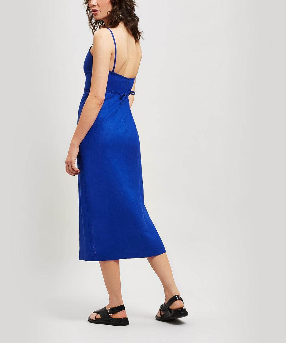 Museo Linen Strappy Dress with Bag