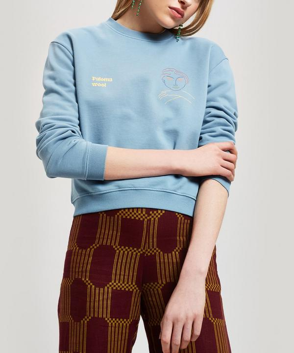 Hotel Paloma Logo and Face Print Sweater