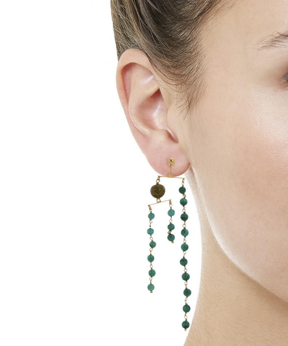 Vino Jade and Jasper Mobile Earrings