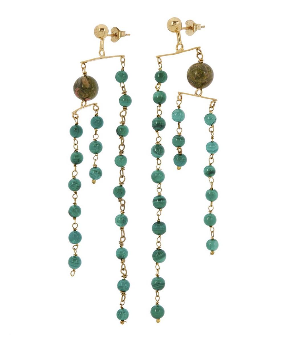 Vino Jade and Jasper Mobile Earrings