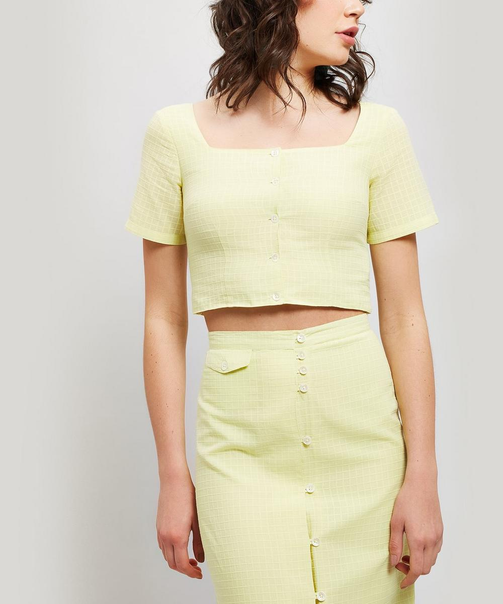 Lenna Square Neck Cotton Crop Top