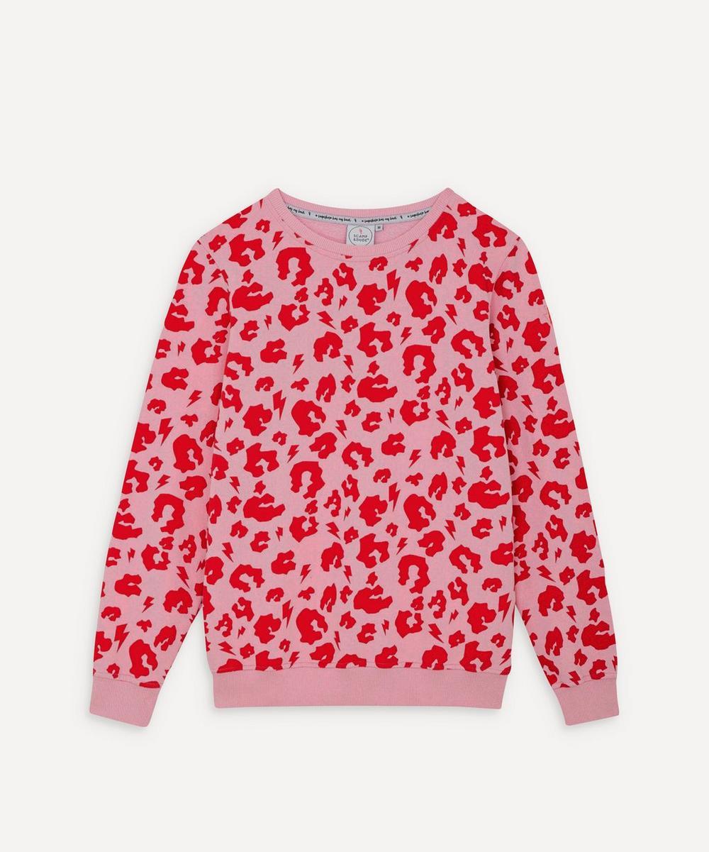 Scamp & Dude - Leopard Print Lightning Bolt Sweatshirt
