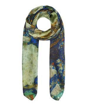 Copper Ore Print Silk Scarf