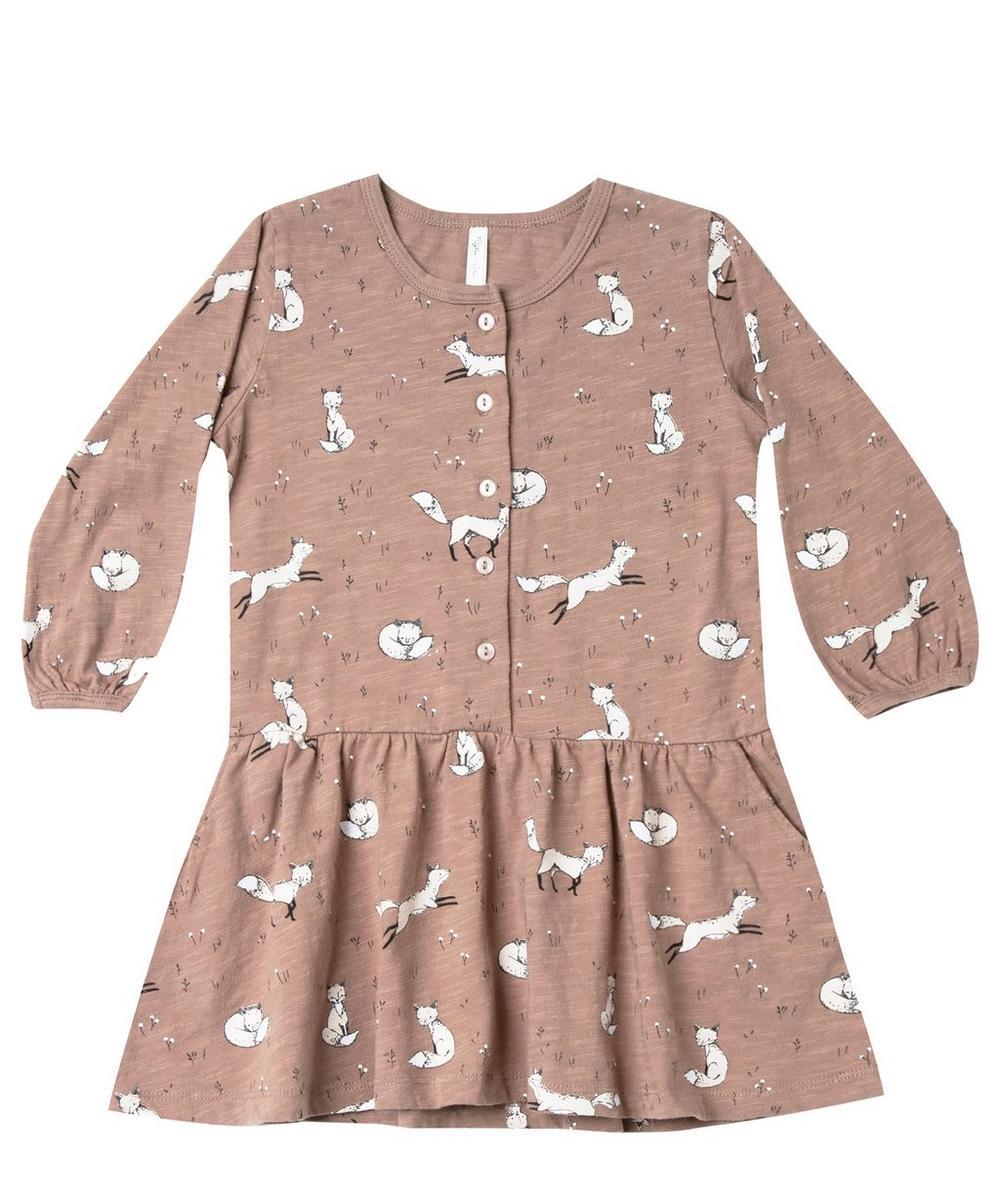 Winter Fox Button Up Dress 3-24 Months