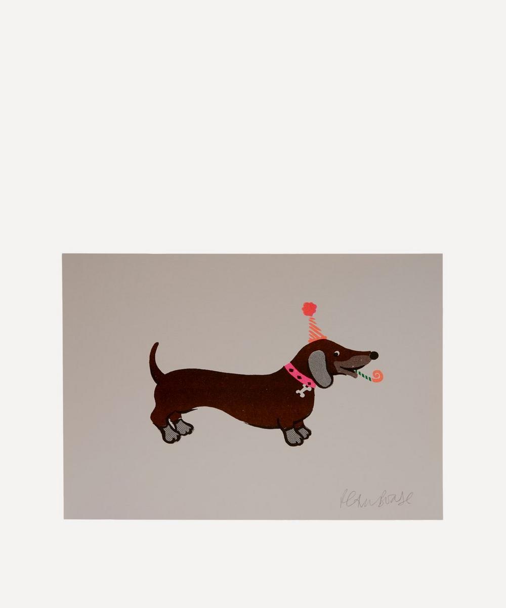 Sausage Dog Risograph Print