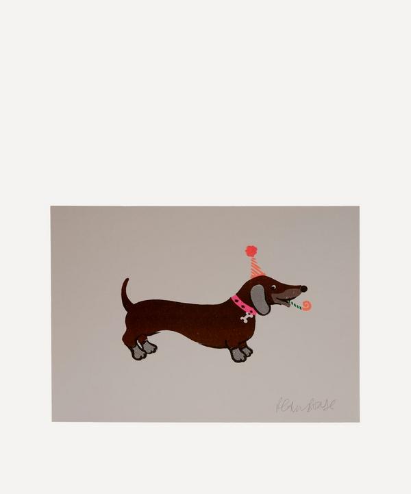 Petra Boase - Sausage Dog Risograph Print