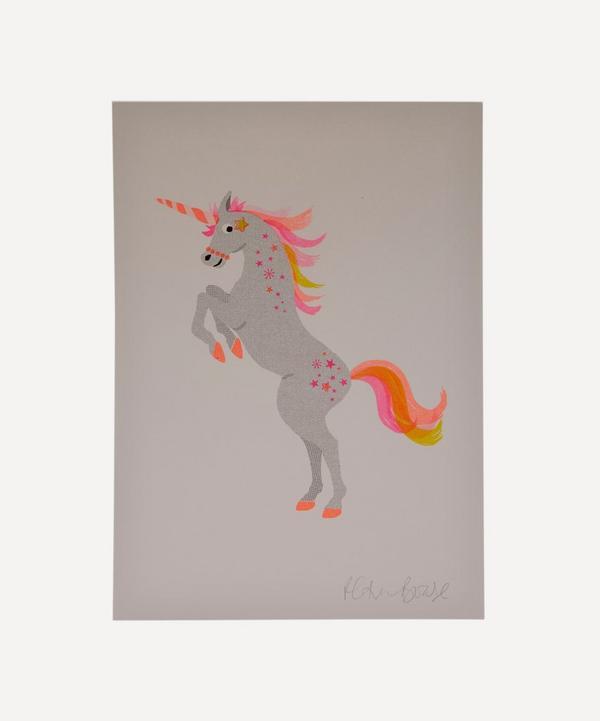Petra Boase - Unicorn Risograph Print