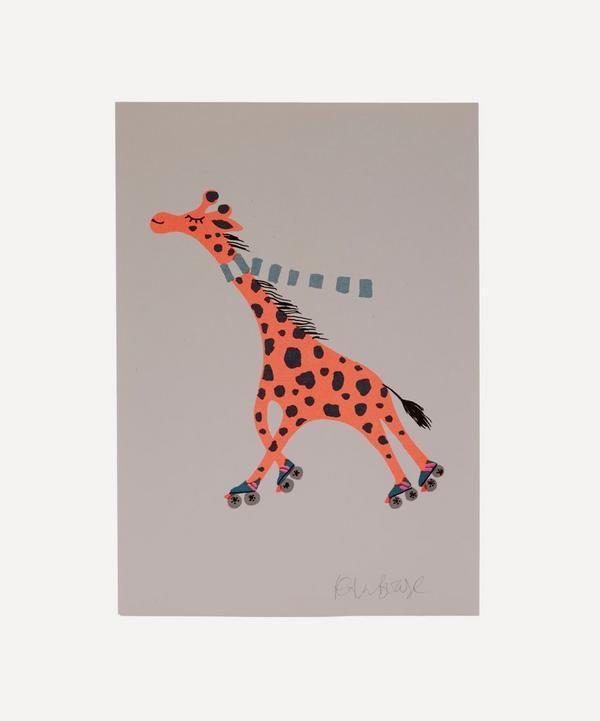 Petra Boase - Giraffe Risograph Print