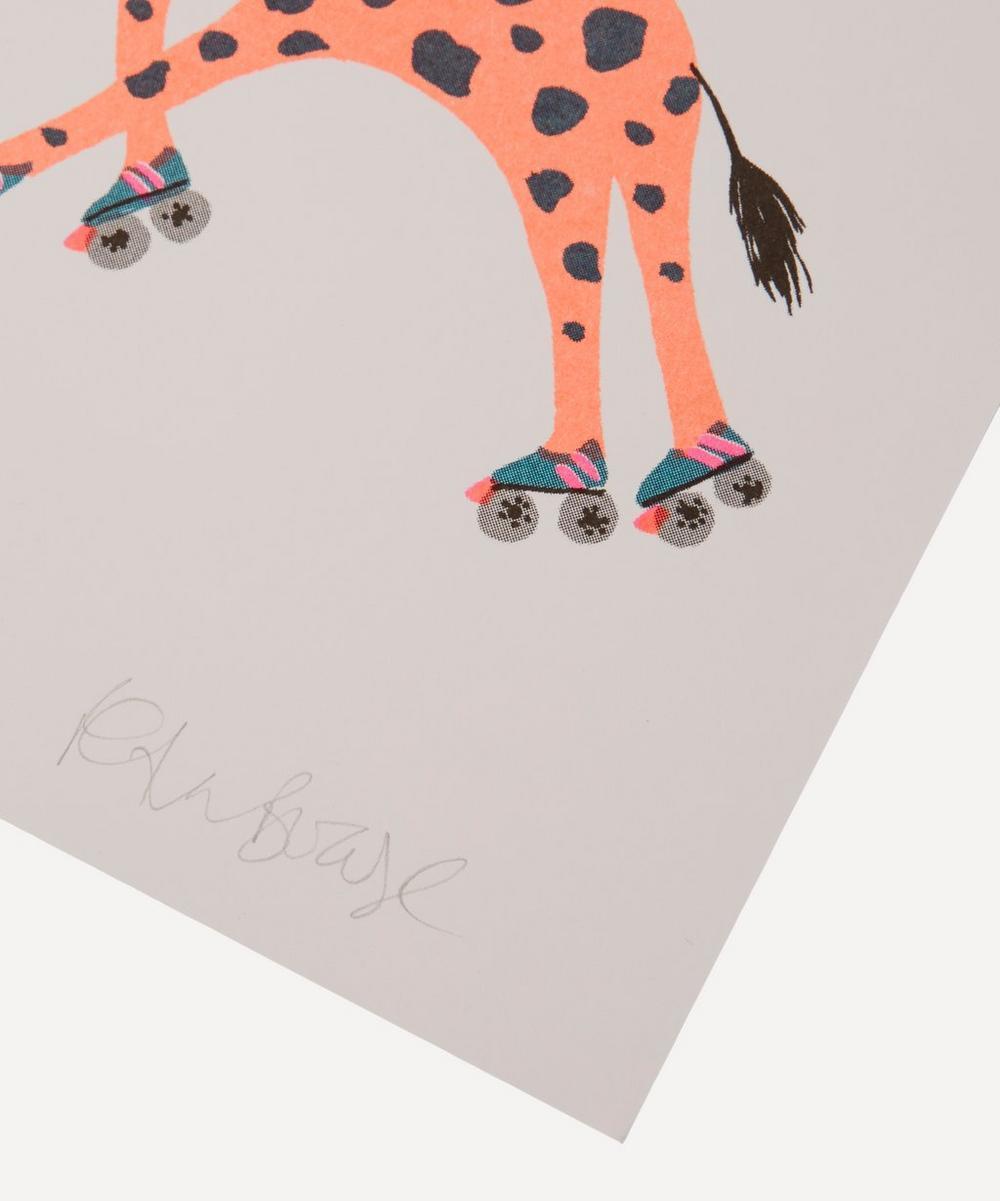 Giraffe Risograph Print