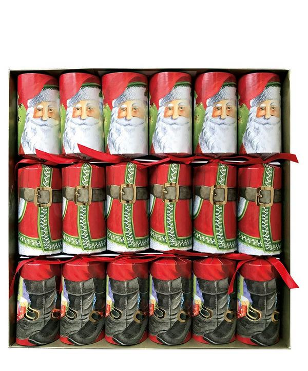 Santa Claus Christmas Crackers Set of Six