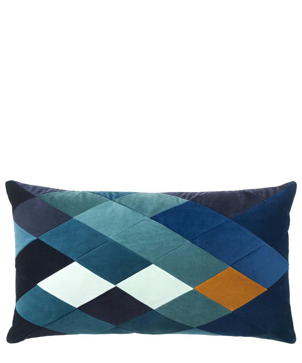 Emma Rectangular Cotton Velvet Cushion