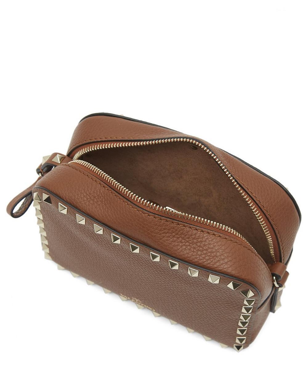 Leather Rockstud Cross-Body Camera Bag