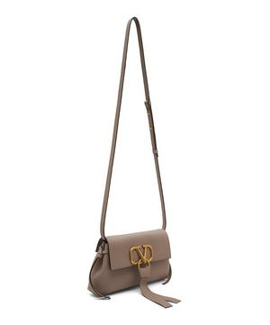 V-Ring Leather Cross-Body Bag