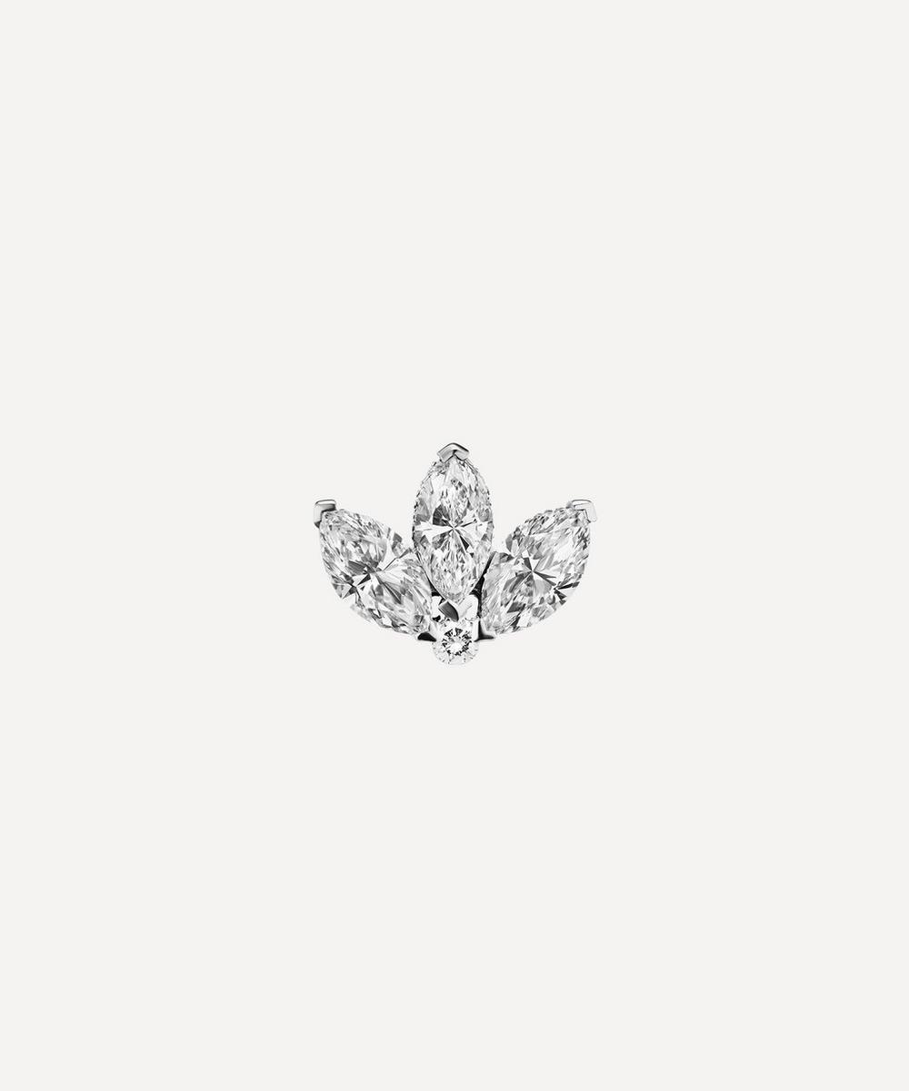 3mm Mini Diamond Engraved Lotus Threaded Stud Earring