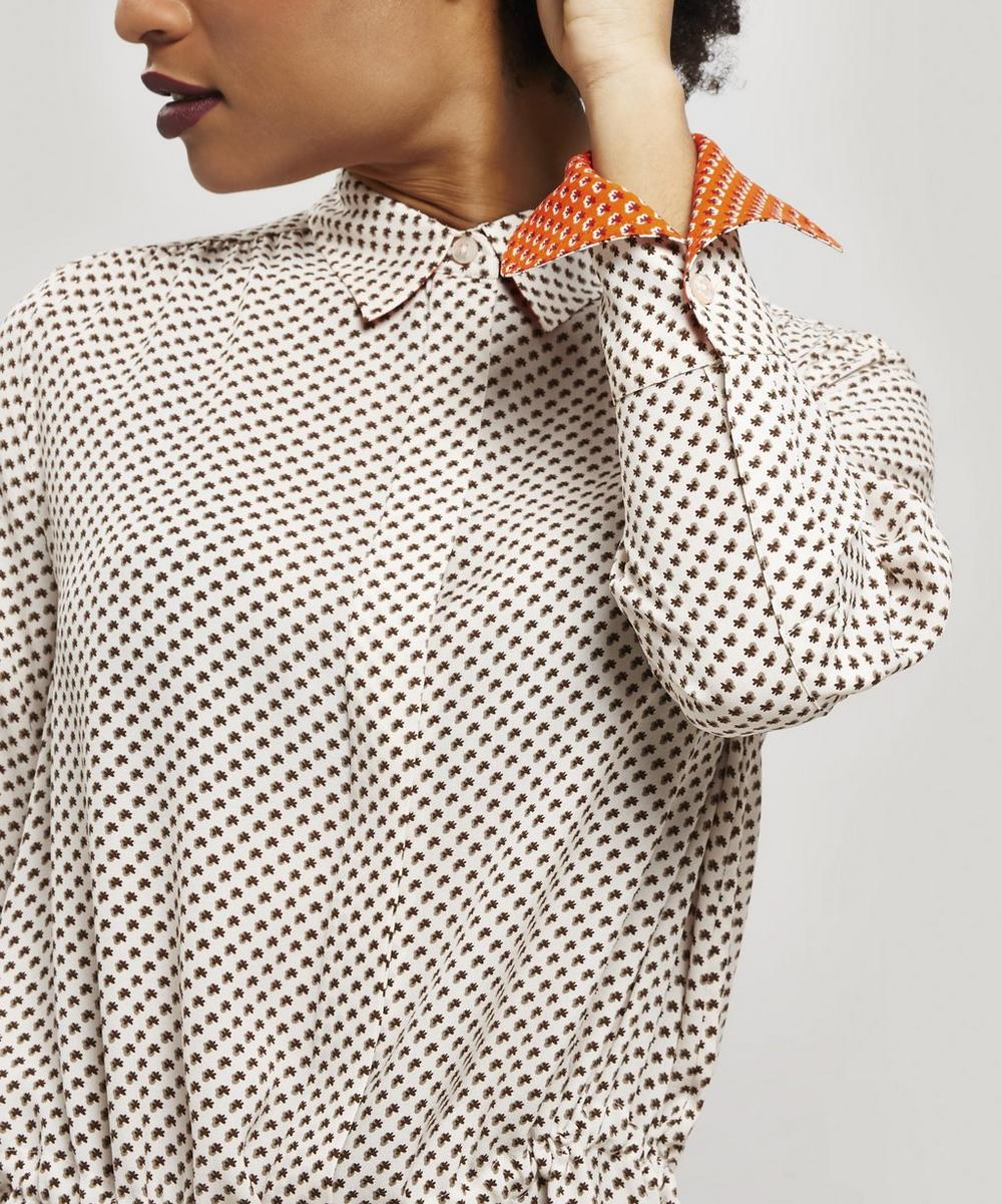 Evie Micro Floral Print Shirt Dress