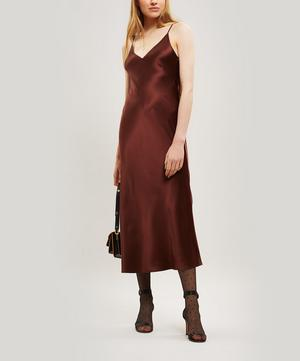 Clea Silk-Satin Slip Dress