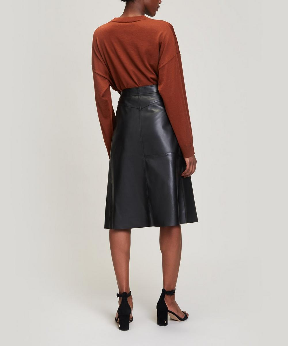 Bell A-Line Leather Skirt