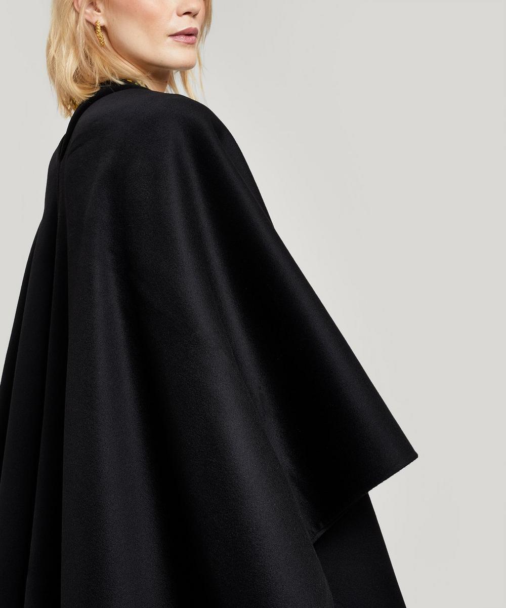 Quadro Cashmere-Blend Poncho Jacket