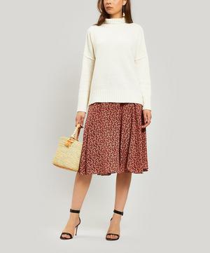 Anjana Floral Silk Midi-Skirt