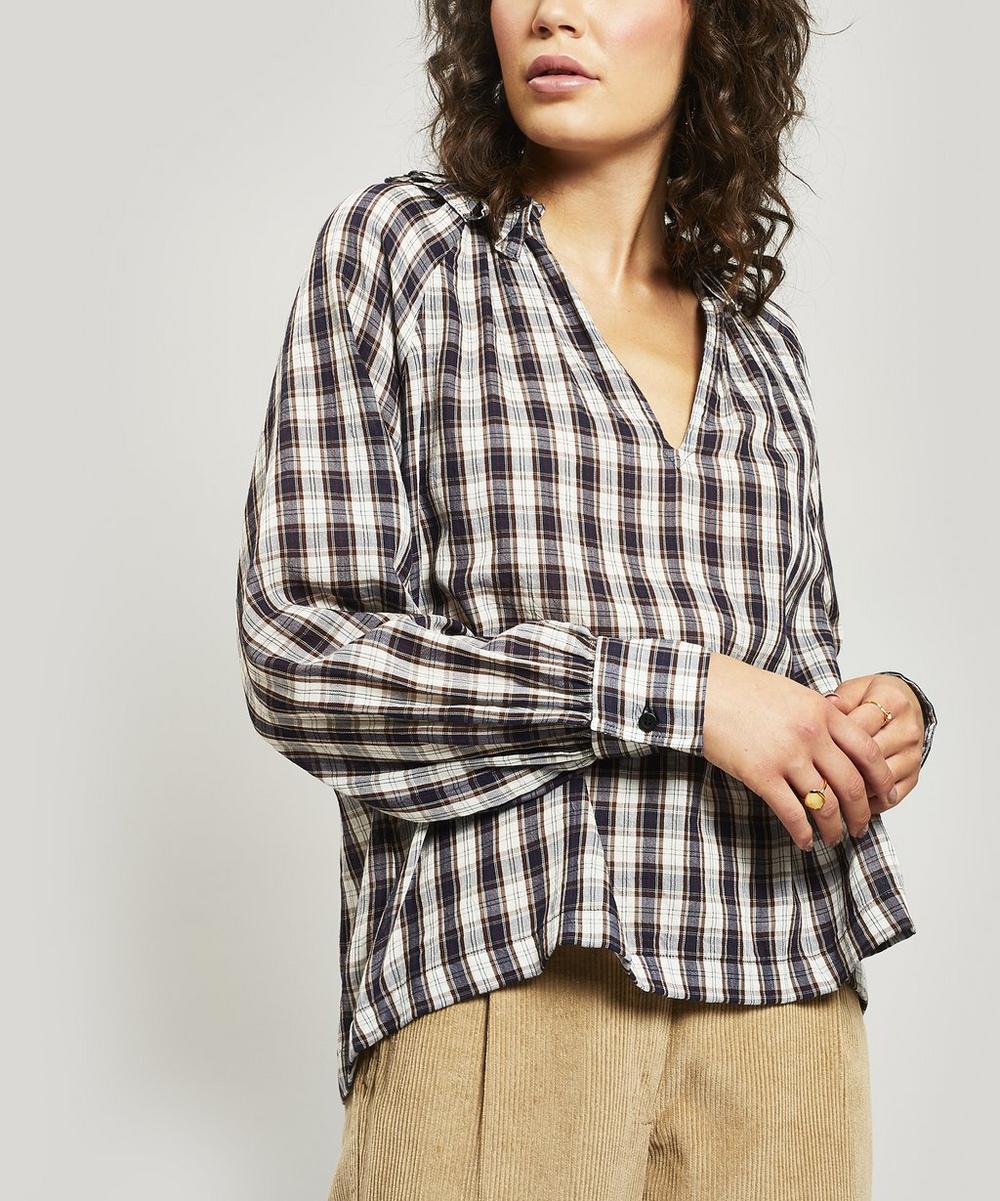 Carole Checked Cotton Shirt