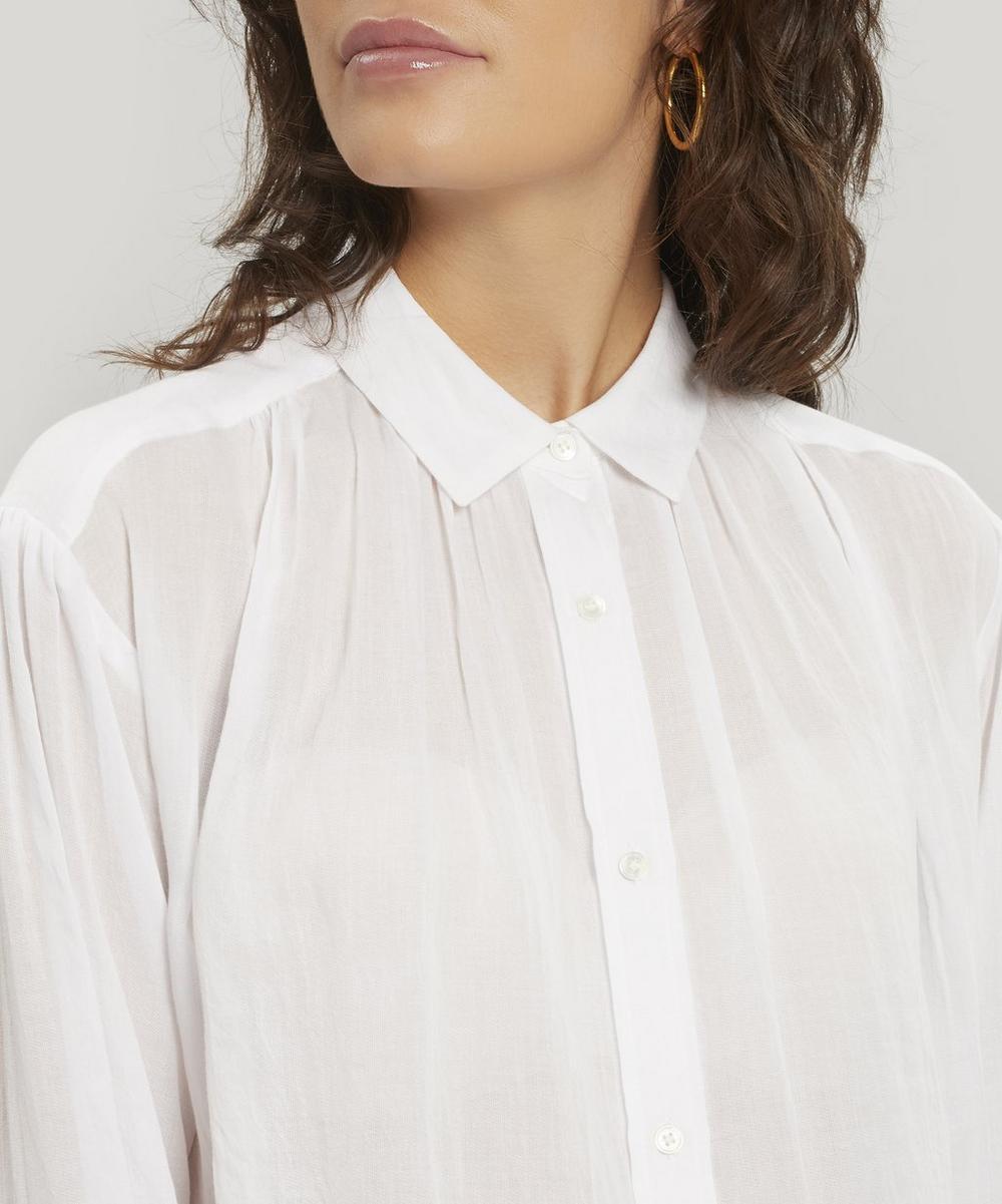 Luisa Gathered Cotton Shirt