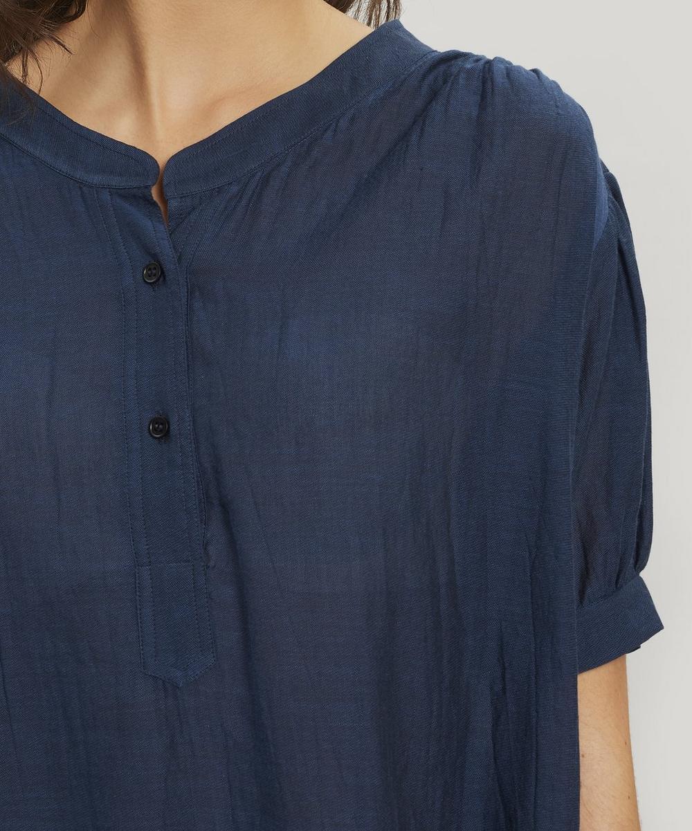 Hanne Gathered Cotton T-Shirt