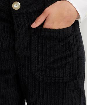 Drake Wide-Leg Corduroy Trousers
