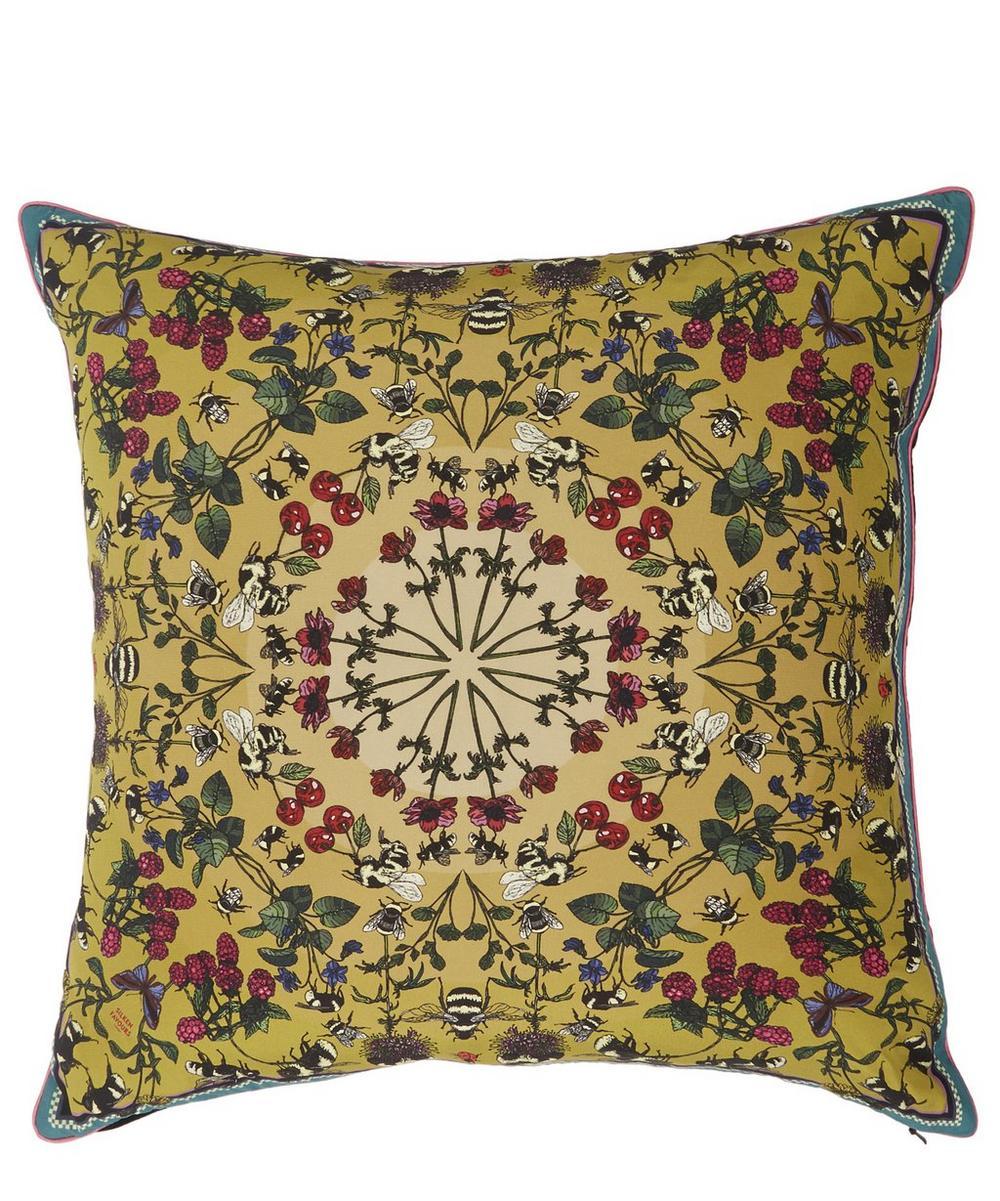 Bumblebee Silk Cushion