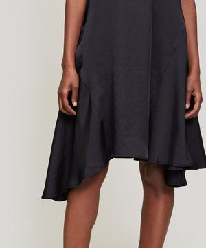Contrast Asymmetric Panel Dress