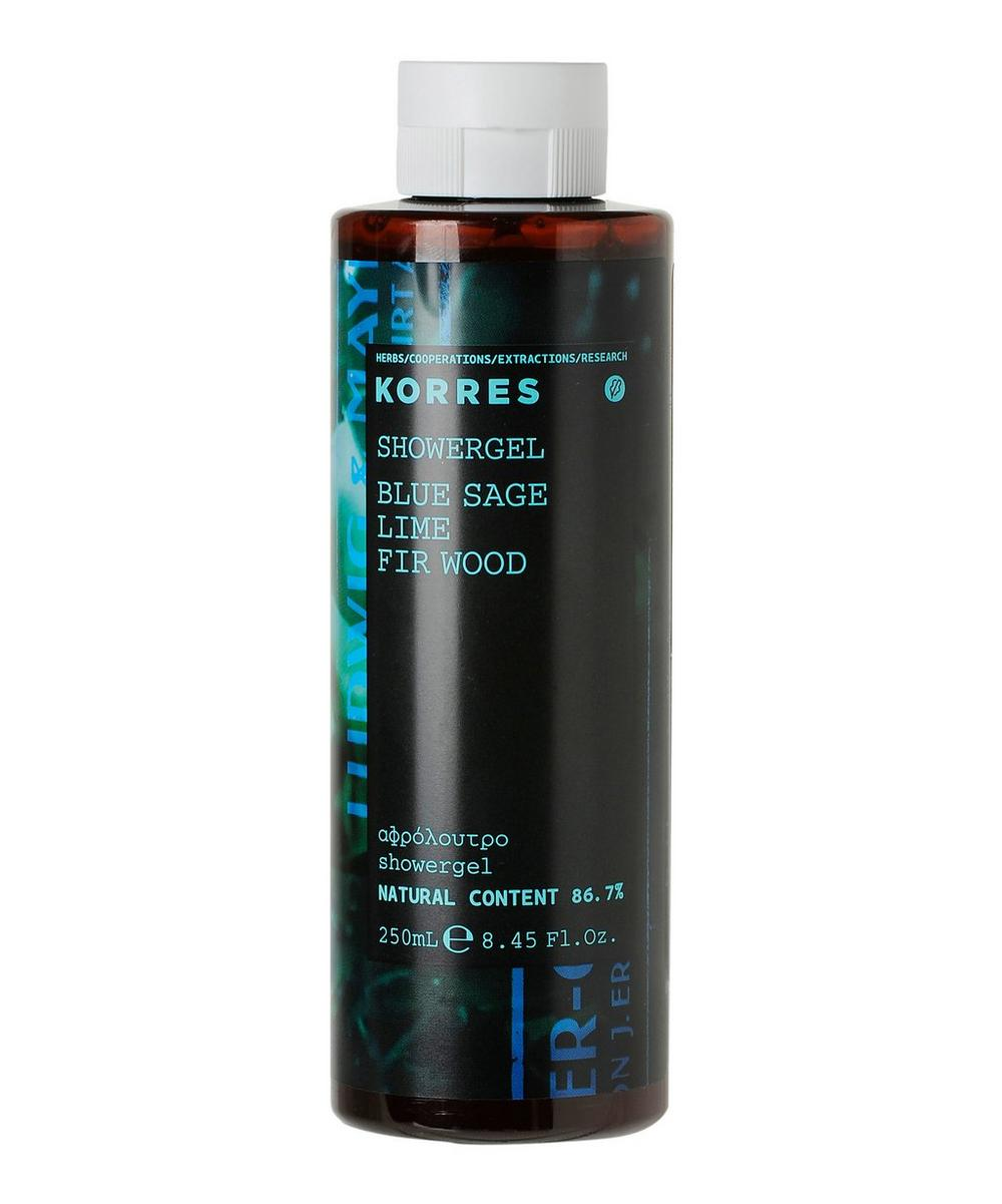 For Him Blue Sage, Lime and Fir Wood Shower Gel 250ml