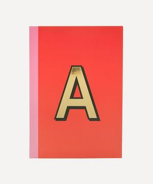 Letter 'A' A5 Notebook