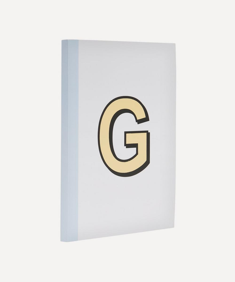 Letter 'G' A5 Notebook