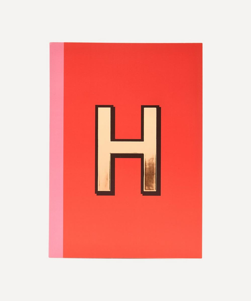 Letter 'H' A5 Notebook