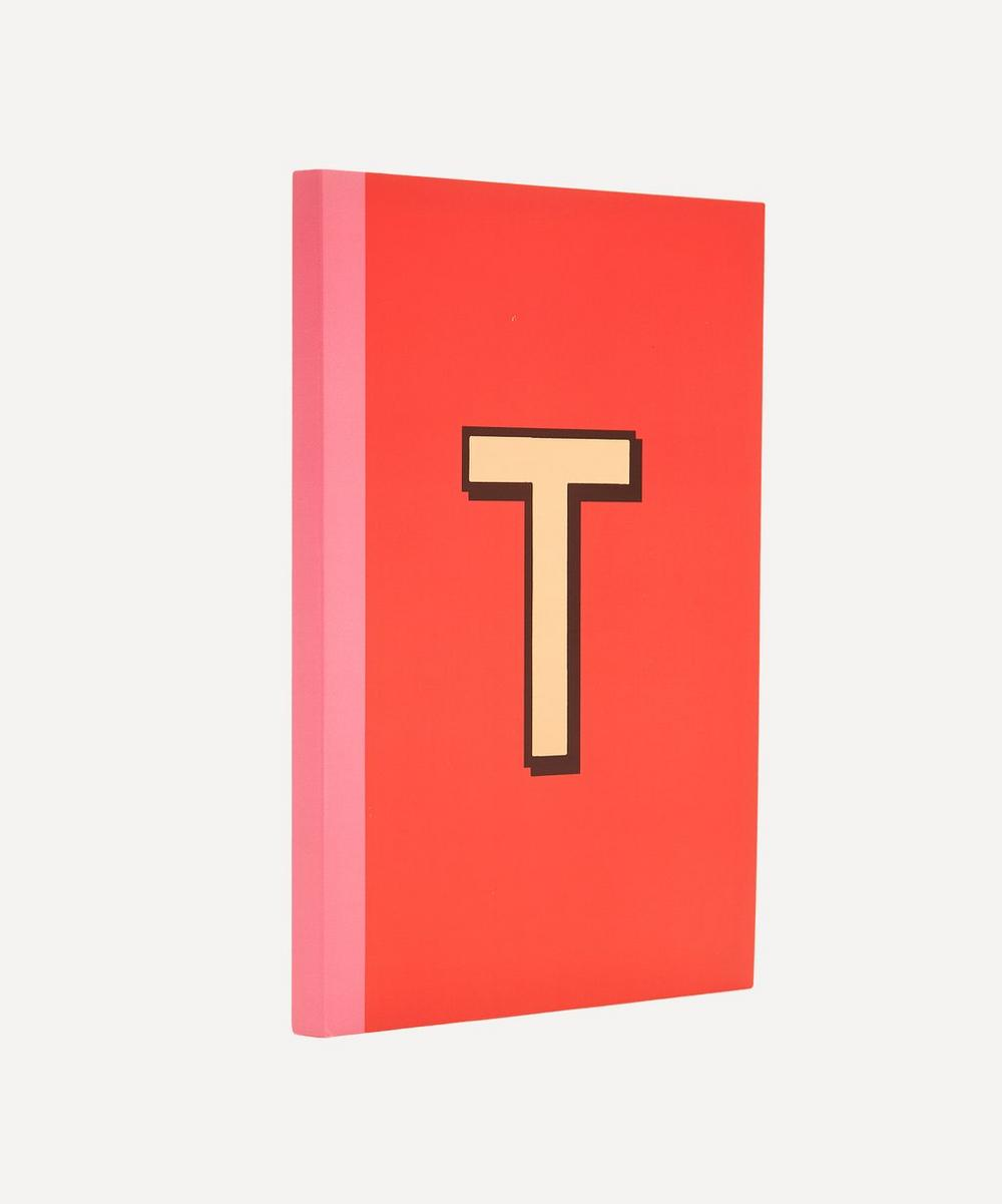 Letter 'T' A5 Notebook