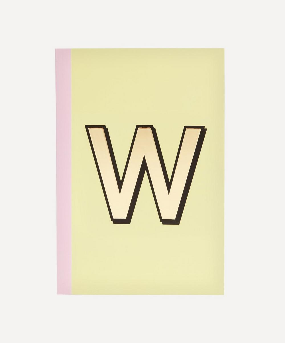 Letter 'W' A5 Notebook
