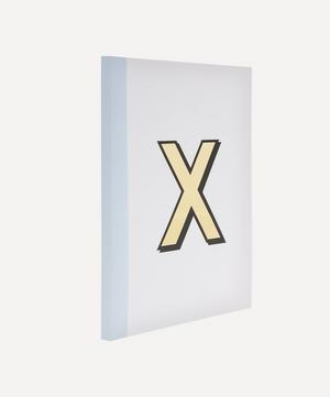 Letter 'X' A5 Notebook