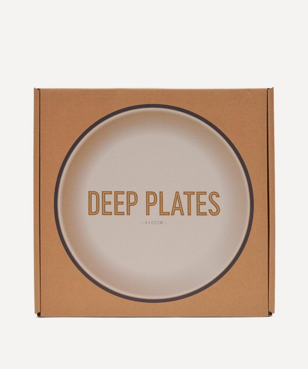Enamelware Deep Plates Set of Four