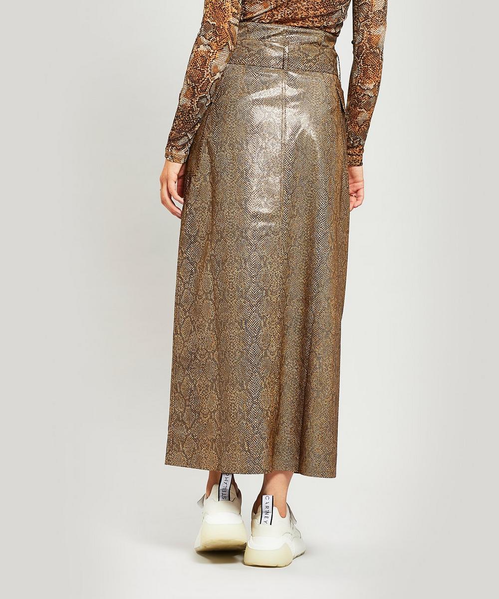 3461bdd4ee Aarohi Snake Print Vinyl Midi Skirt | Liberty London