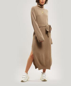 Canaan Merino Wool-Blend Belted Dress