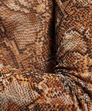 Madi Snake Print Mesh Top