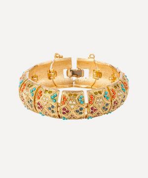 Gold-Plated D'Orlan Multi Stone Cuff Bracelet