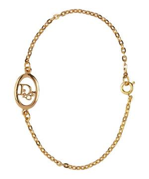 Gold-Plated Dior Logo Chain Bracelet