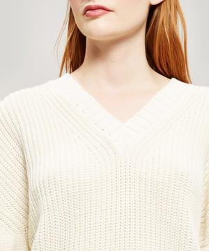 V-neck Wool-Blend Knitted Jumper
