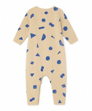 All Over Geometric Long-Sleeved Jumpsuit 3-24 Months