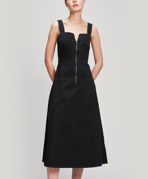 Pepper Zip-Up Denim Midi-Dress