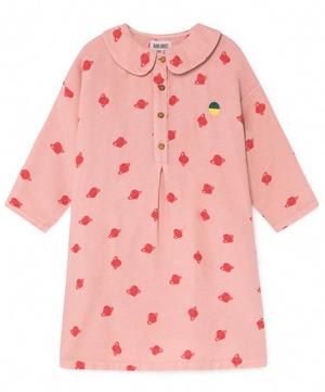 All Over Small Saturn Buttons Dress 2-8 Years